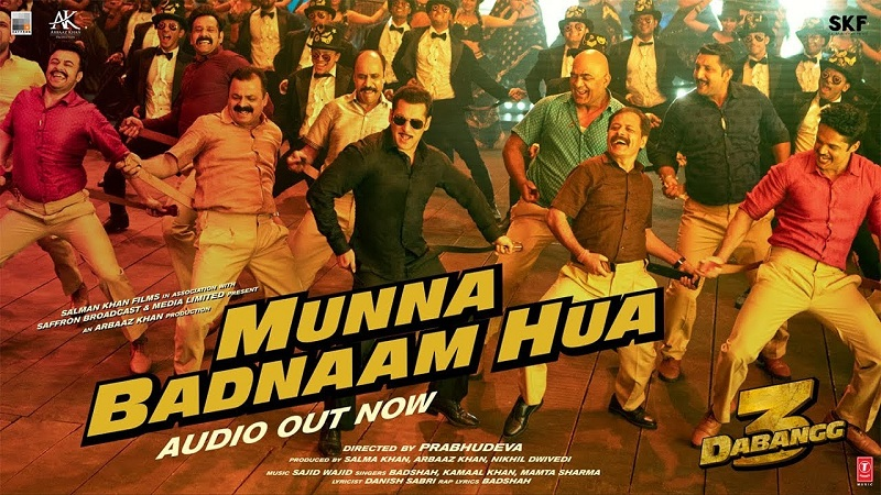 Munna badnaam hua song lyrics